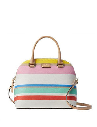 Kate Spade New York Grove Street Printed Stripe Carli Satchel