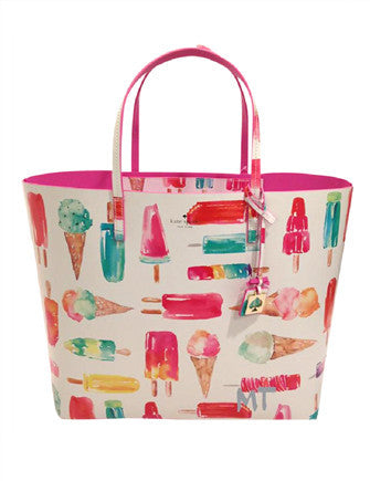 Kate Spade New York Flavor of The Month Len Ice Pop Print Tote