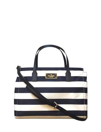 Kate Spade New York Small Loden Blake Avenue Stripe Nylon Satchel