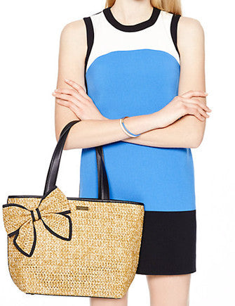 Kate Spade New York Belle Place Woven Straw Tote