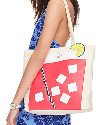 Kate Spade New York Breath of Fresh Air Cocktail Trompe L'oeil Tote