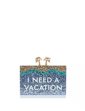 Kate Spade New York Breath of Fresh Air I Need a Vacation Clutch