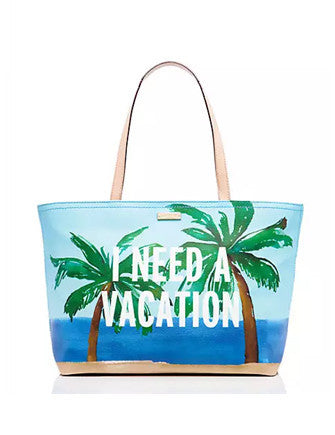 Kate Spade New York Breath of Fresh Air I Need a Vacation Francis Tote