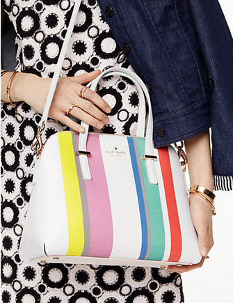 Kate Spade New York Cedar Street Stripe Maise Zip Satchel