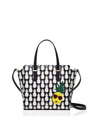 Kate Spade New York Cedar Street Pineapples Small Hayden Satchel