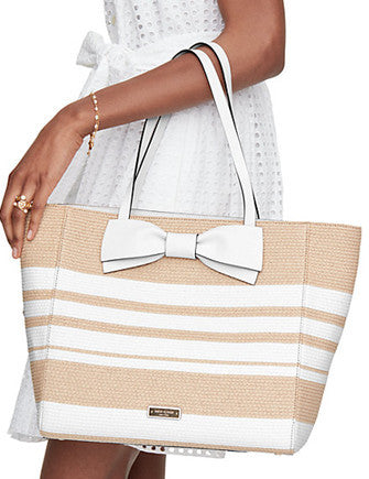 Kate Spade New York Clement Street Straw Blair Tote