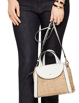 Kate Spade New York Cobble Hill Straw Small Adrien Satchel