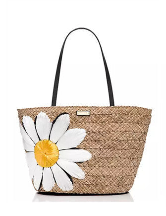 Kate Spade New York Down The Rabbit Hole Straw Daisy Tote