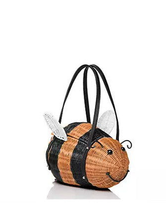 Kate Spade New York Down the Rabbit Hole Wicker Bee Handbag