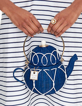 Kate Spade New York Down the Rabbit Hole Wicker Teapot