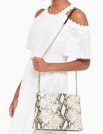 Kate Spade New York Emerson Snake Embossed Lorie Shoulder Bag