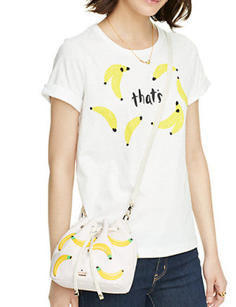 Kate Spade New York Flights of Fancy Bananas Mini Bucket Bag