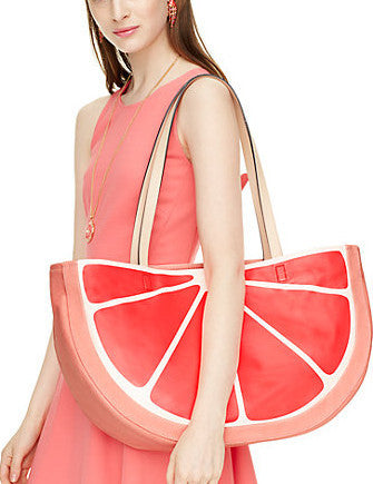 Kate Spade New York Flights of Fancy Grapefruit Tote