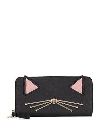 Kate Spade New York Neda Jazz Things Up Cat Wallet