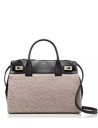 Kate Spade New York Luna Drive Luxe Willow Shearling Satchel