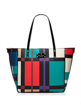 Kate Spade New York Perry Street Plaid Michelle Check Tote