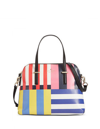 Kate Spade New York Cedar Street Multi Stripe Maise Zip Satchel