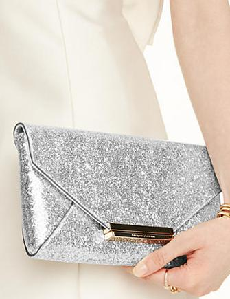 Kate Spade New York Wedding Belles Charla Glitter Clutch