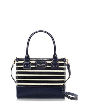 Kate Spade New York Small Wellesley Quinn Fabric Stripe Satchel