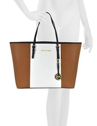 Michael Michael Kors Colorblock Medium Jet Set Center Stripe Tote