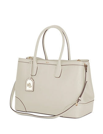 Lauren Ralph Lauren Fairfield City Pebbled Leather Shopper Tote