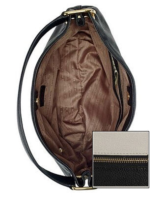 Lauren Ralph Lauren Meysey Colorblock Leather Shoulder Bag