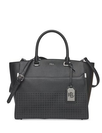 Lauren Ralph Lauren Perforated Sutton Convertible Tote