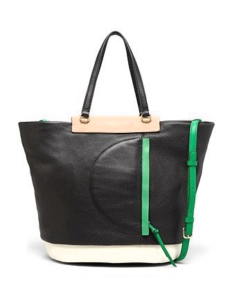 Marc by Marc Jacobs Round the Way Girl Colorblock Leather Tote