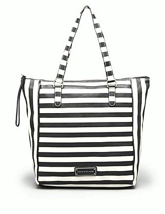 Marc by Marc Jacobs Take Me Printed Stripe Shoulder Tote