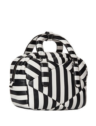 Marc by Marc Jacobs Turn Around Stripe Quilted Small Satchel