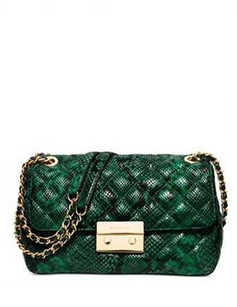 Michael Michael Kors Sloan Large Chain Python Shoulder Bag