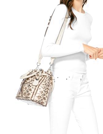 91154713c1cc Michael Michael Kors Blakely Medium Python Embossed Bucket Bag ...