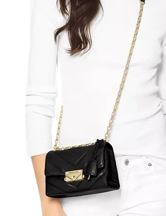 Michael Michael Kors Cece Chevron Quilted Leather Mini Chain Crossbody