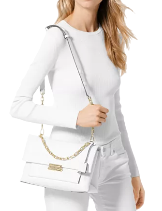 Michael Michael Kors Cece Polished Leather Chain Shoulder Bag