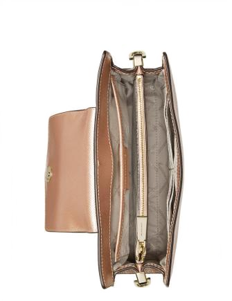 Michael Michael Kors Crossgrain Leather Crossbody Clutch