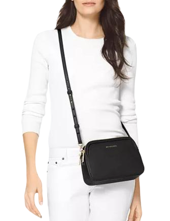 Michael Michael Kors Crossgrain Leather Double Zip Crossbody