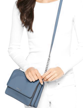 Michael Michael Kors Daniela Large Patent Leather Crossbody