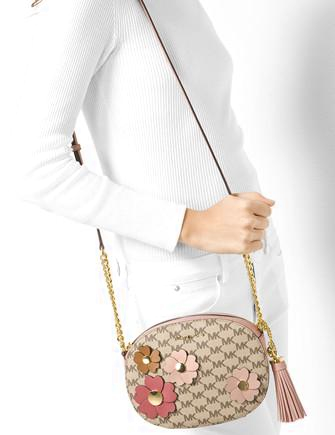Michael Michael Kors Flora Applique Ginny Medium Messenger