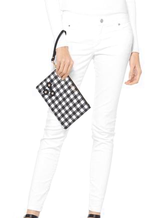Michael Michael Kors Gingham Medium Zip Pouch