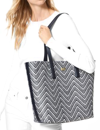 Michael Michael Kors Junie Chevron Leather Tote