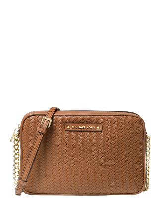 Michael Michael Kors Large East West Woven Leather Crossbody