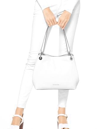 Michael Michael Kors Large Raven Leather Shoulder Tote