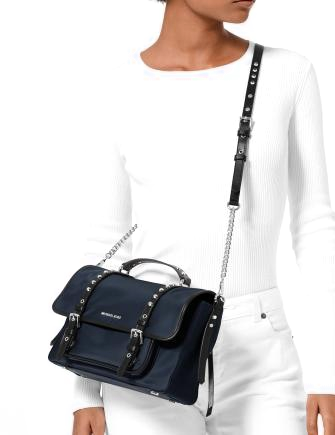 Michael Michael Kors Leila Flap Messenger Nylon Crossbody