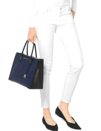 Michael Michael Kors Mercer Leopard Leather Tote