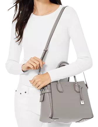Michael Michael Kors Mercer Belted Pebble Leather Satchel