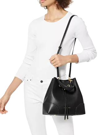 Michael Michael Kors Mercer Gallery Convertible Bucket Leather Shoulder Bag