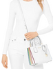 Michael Michael Kors Mercer Rainbow Trim Leather Crossbody Tote