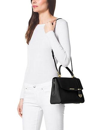Michael Michael Kors Ava Medium Saffiano Top Handle Satchel