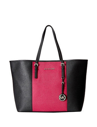 Michael Michael Kors Center Stripe Medium Jet Set Travel Tote