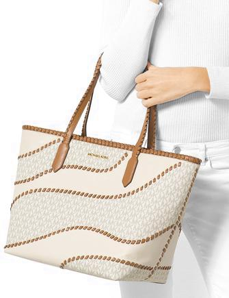 Michael Michael Kors Nouveau Hayley Large East West Signature Top Zip Tote